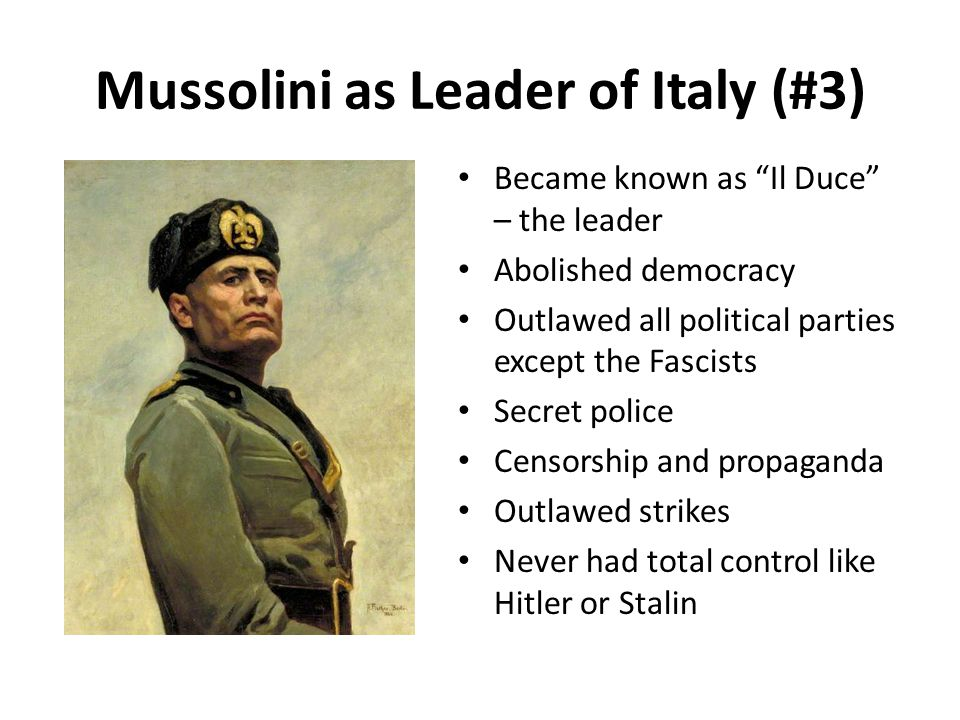 Mussolini as Leader of Italy (#3)