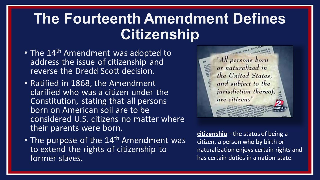 an essay on the fourteenth amendment the rights of citizens The equal protection clause limits american governments by ensuring that they do not discriminate against people based on their race, national origin, gender or other.