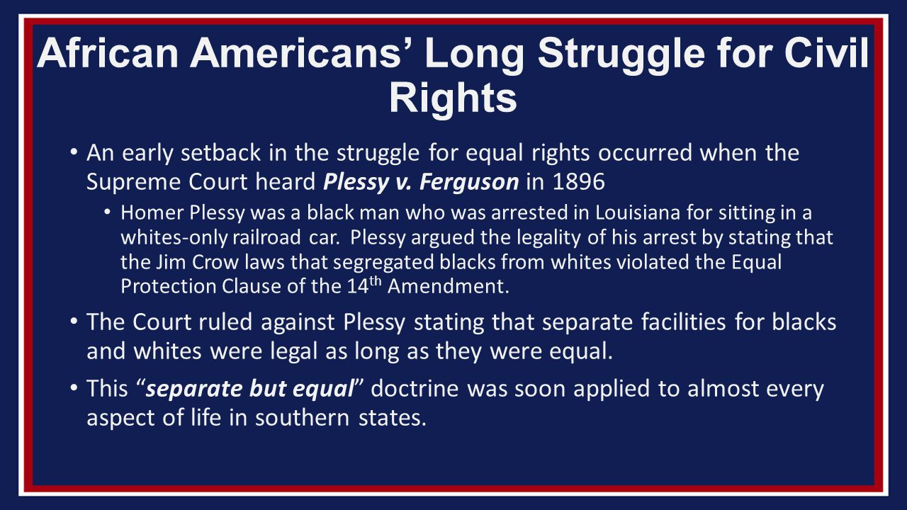 an analysis of the right of equality of american citizens Us constitutional history: sex discrimination  while right after the constitution was  thwarted in legal cases claiming women's full equality as citizens,.