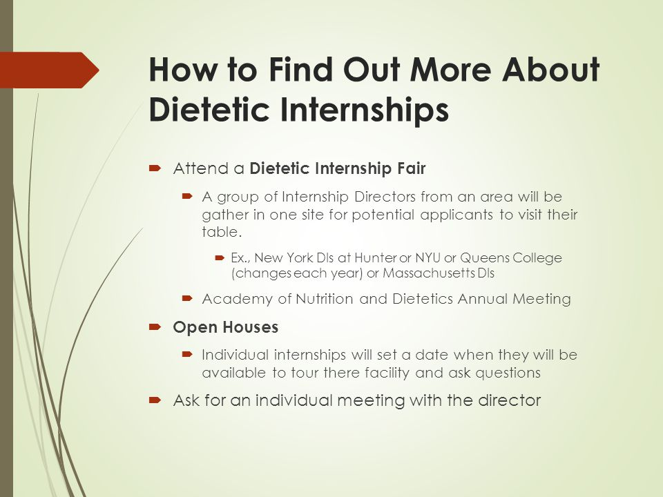 How to write a personal statement for dietetic internship open