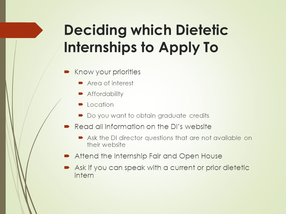 dietetic internships overseen by the accreditation council
