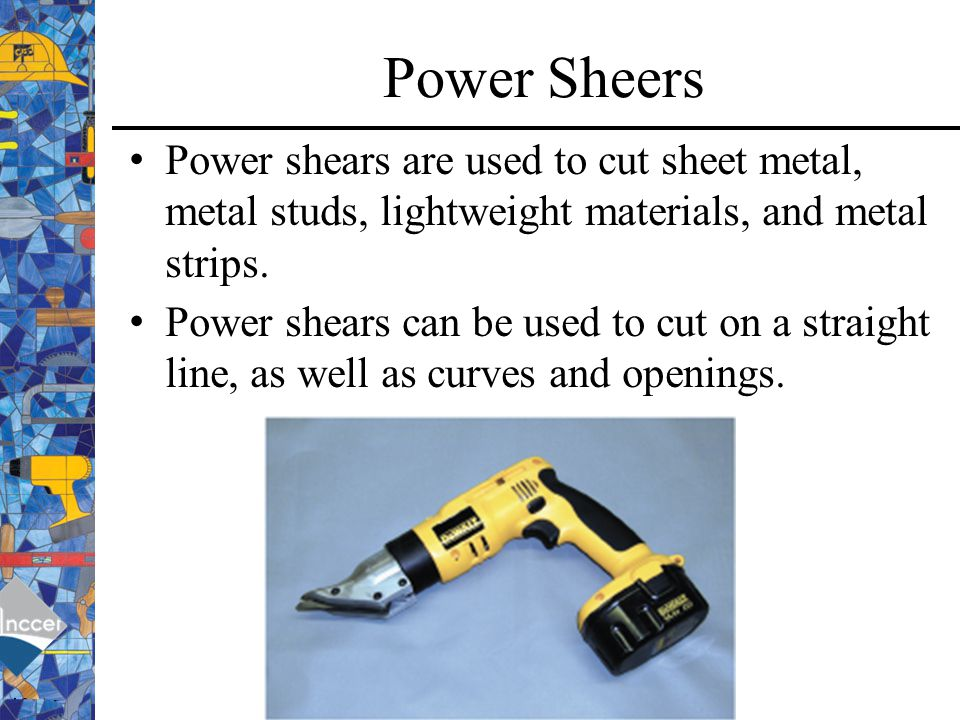 how to cut sheet metal straight line