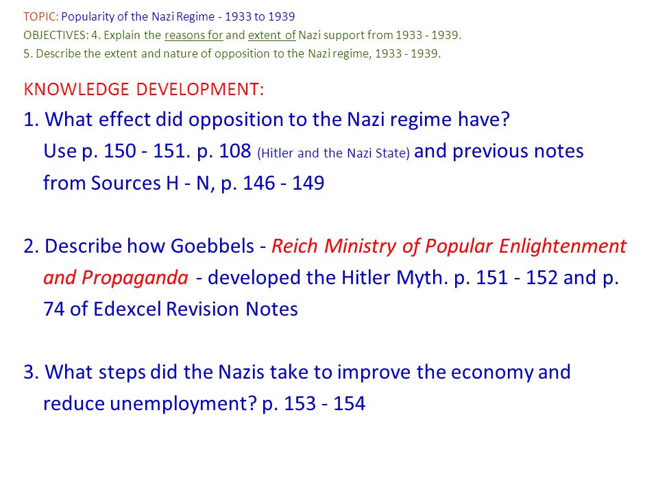 The major steps taken by hitler from 1933 to 1939 essay