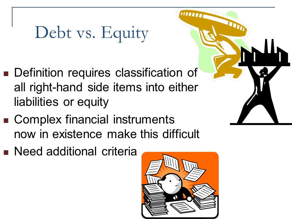 equity vs debt essay Debt vs equity -- advantages and disadvantages in order to expand, it's necessary for business owners to tap financial resources debt and equity.
