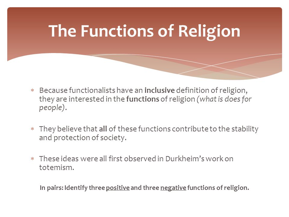 Role of religion in society sociology essay