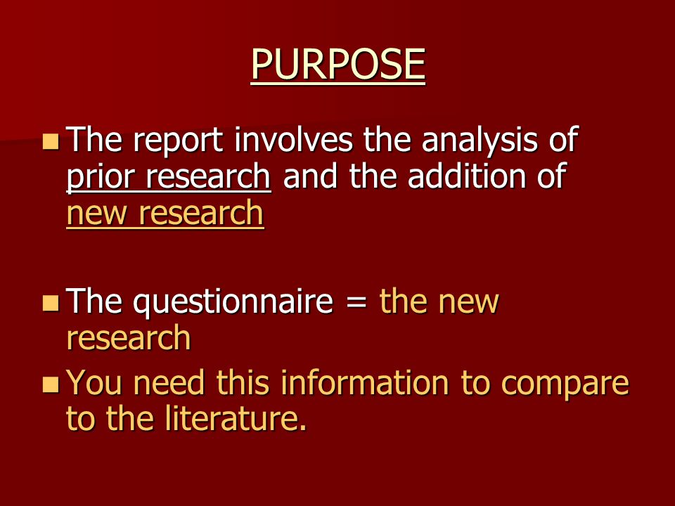 an analysis of the aim of this piece of research How to conduct audience analysis there are many other pieces of information collected in the form of surveys or marketing research that can stand in for.