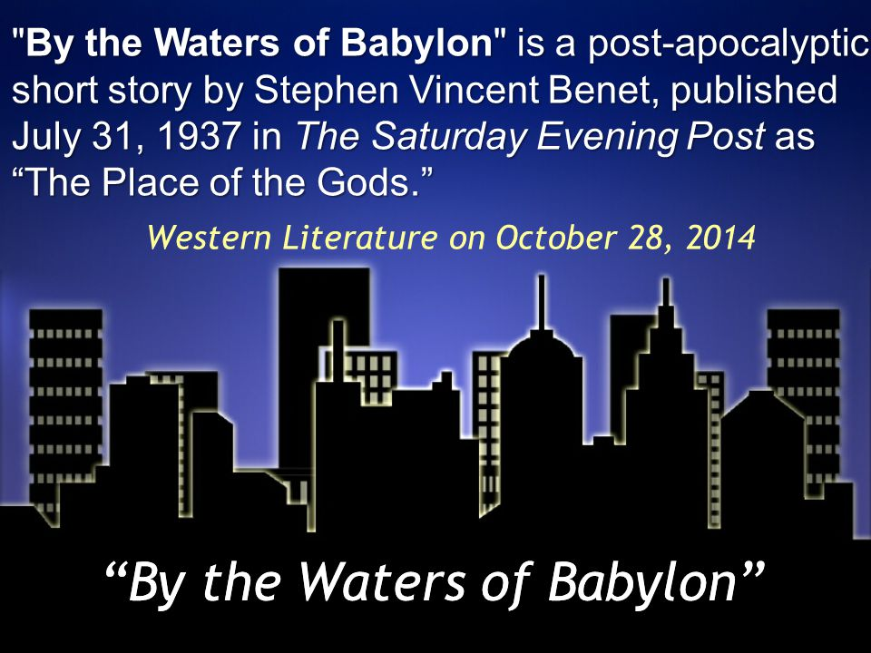 waters babylon 1 English learn with flashcards, games, and more for free.
