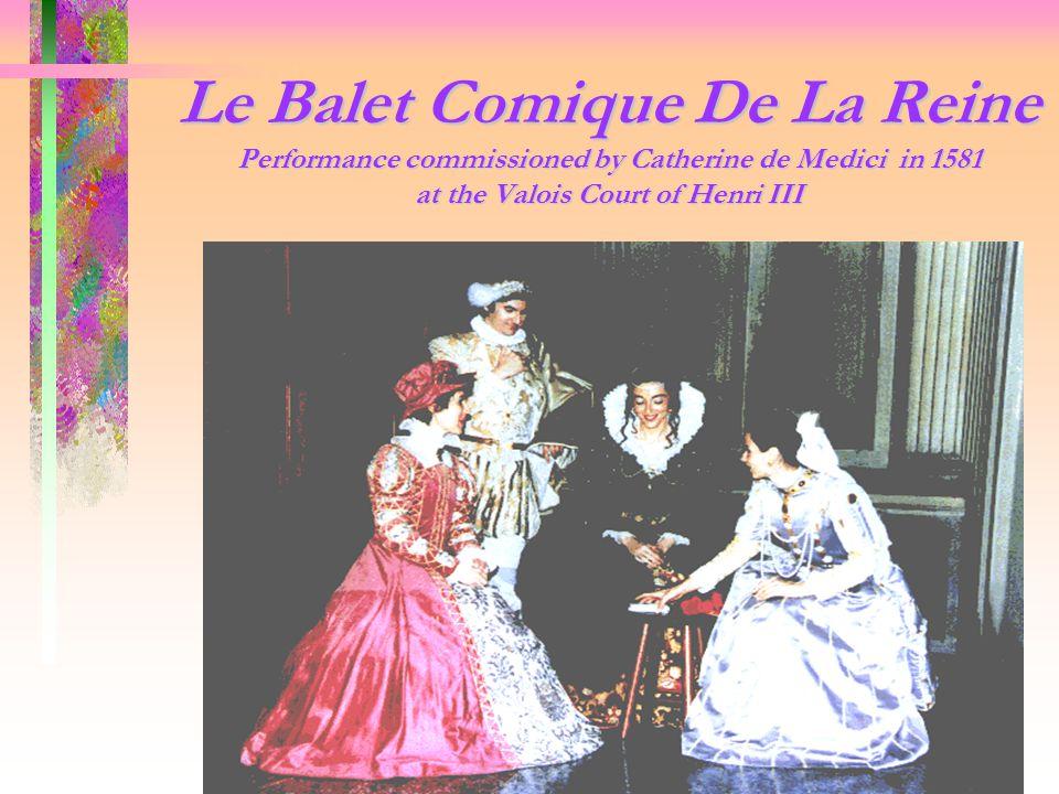 le ballet comique de la reine essay La reine de saba (review)  does have an engaging essay by one of the opera quarterly's regular  la reine de saba , based on le voyage en orient by gérard de.