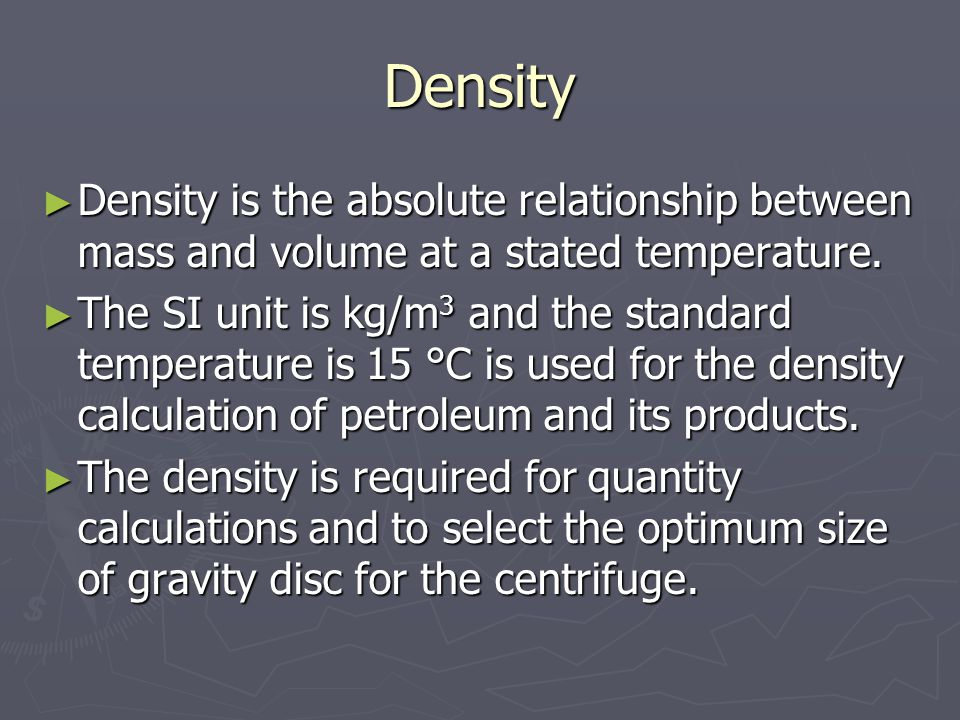 specific volume and density relationship