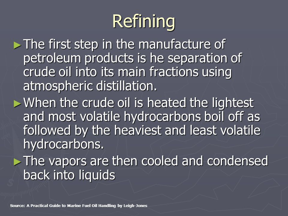 Fractional Distillation - Separation of Petroleum Hydrocarbons