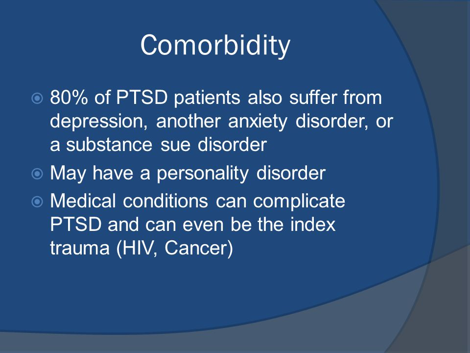 identifying post traumatic stress disorder or ptsd in patients Post-traumatic stress disorder: be offered to those with severe post-traumatic symptoms or with severe ptsd in the first month to identify ptsd.