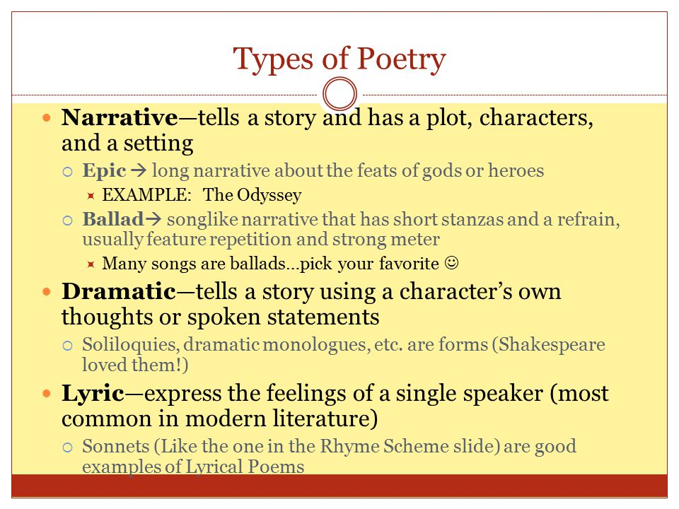 types of settings in literature