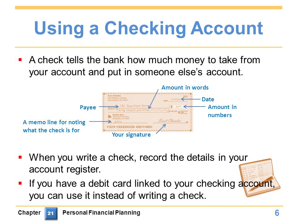 Writing a check on someone elses account