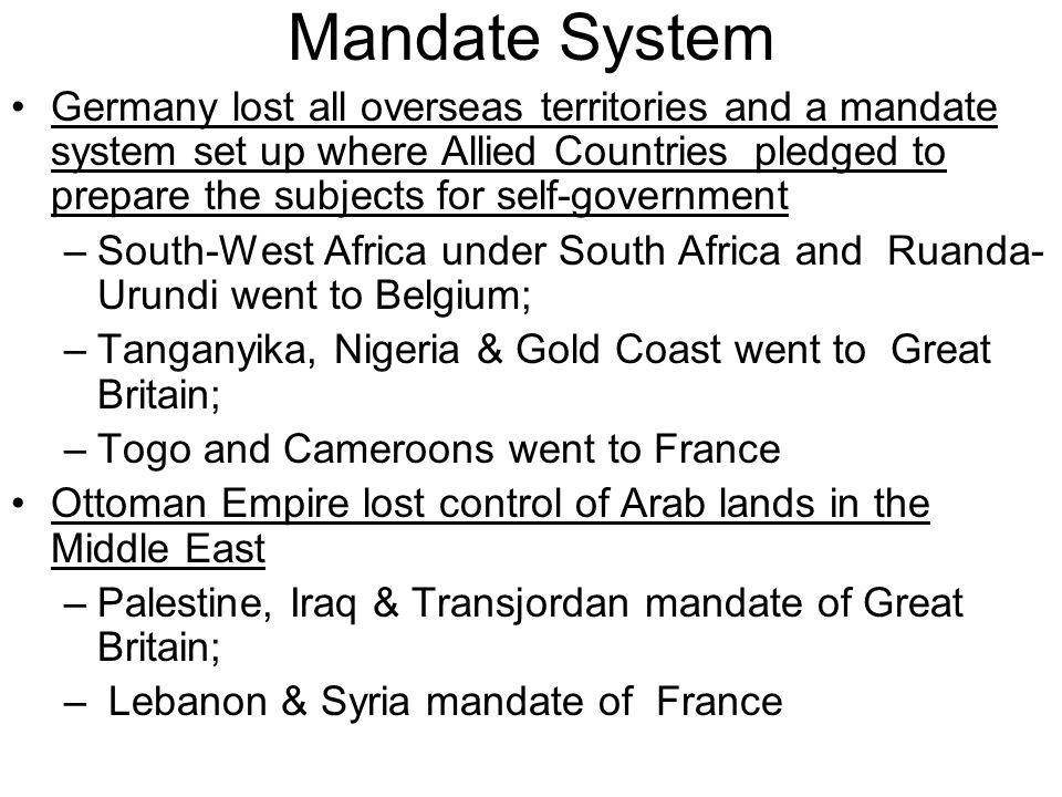 mandate system in germany How hitler consolidated power in germany thanks to that mandate to insure the orderly development of the new german social system was the labor.