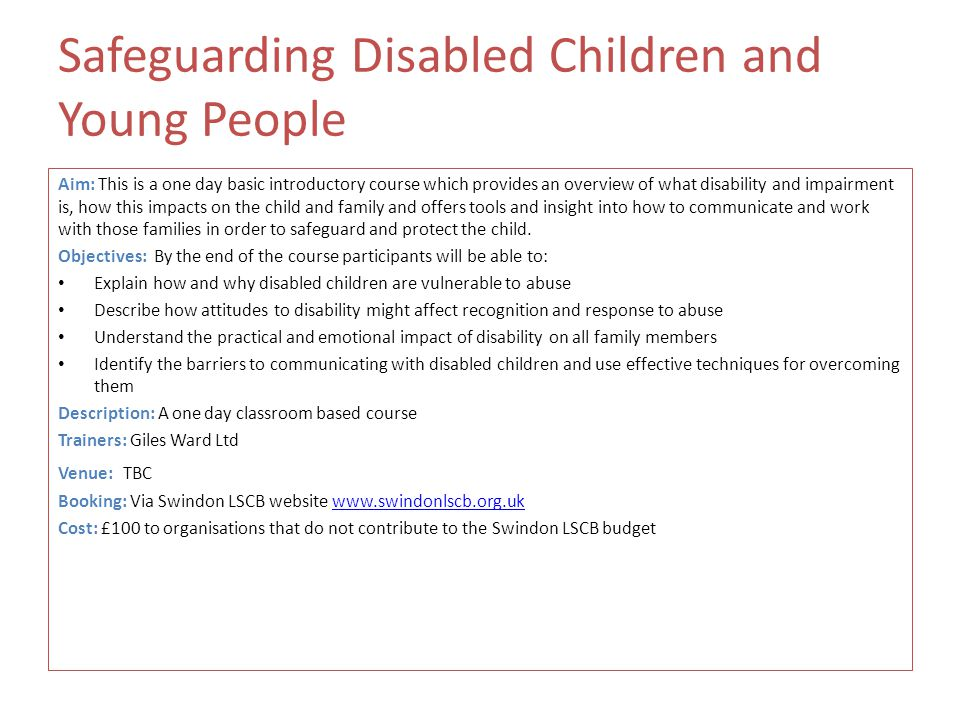 Safeguarding children and child protection