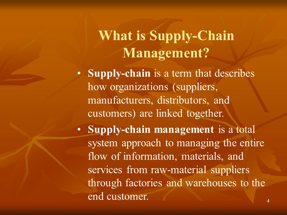 What is Supply-Chain Management