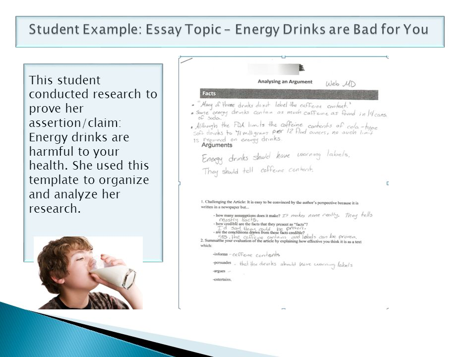 energy drink essay conclusion It is widely believed that energy drinks have been an integral part of beverage in uk market consumers can commonly buy energy drinks in a number of places such as supermarkets, grocery stores, corner shops or even convenient shop in petrol stations over uk.