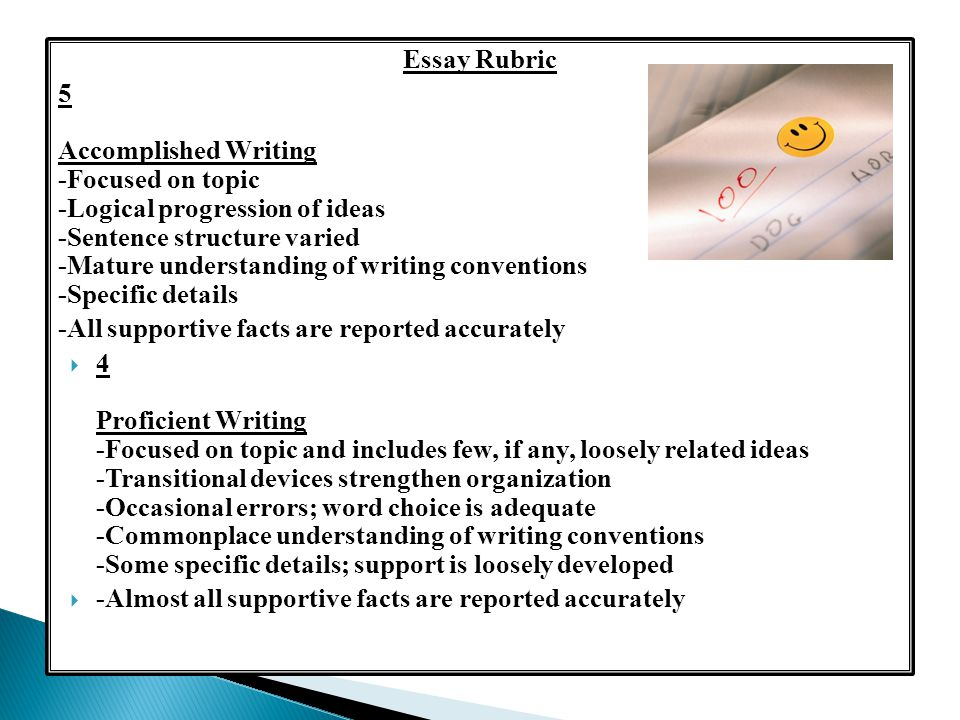 writing rubrics for high school essay