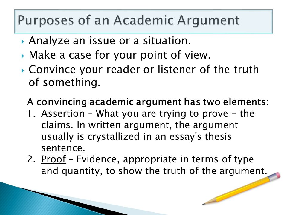 purposes of argumentative essay Types of essays analysis argumentative persuasive / persuade cause and effect comparison and contrast nevertheless, thirteen thought the u s should sign it the use of landmines constitutes a pressing problem for the world, but unfortunately, not many people are aware of it.