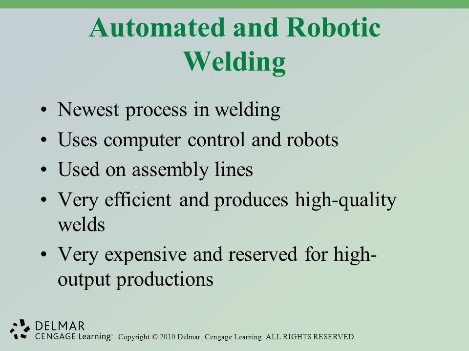 Automated and Robotic Welding