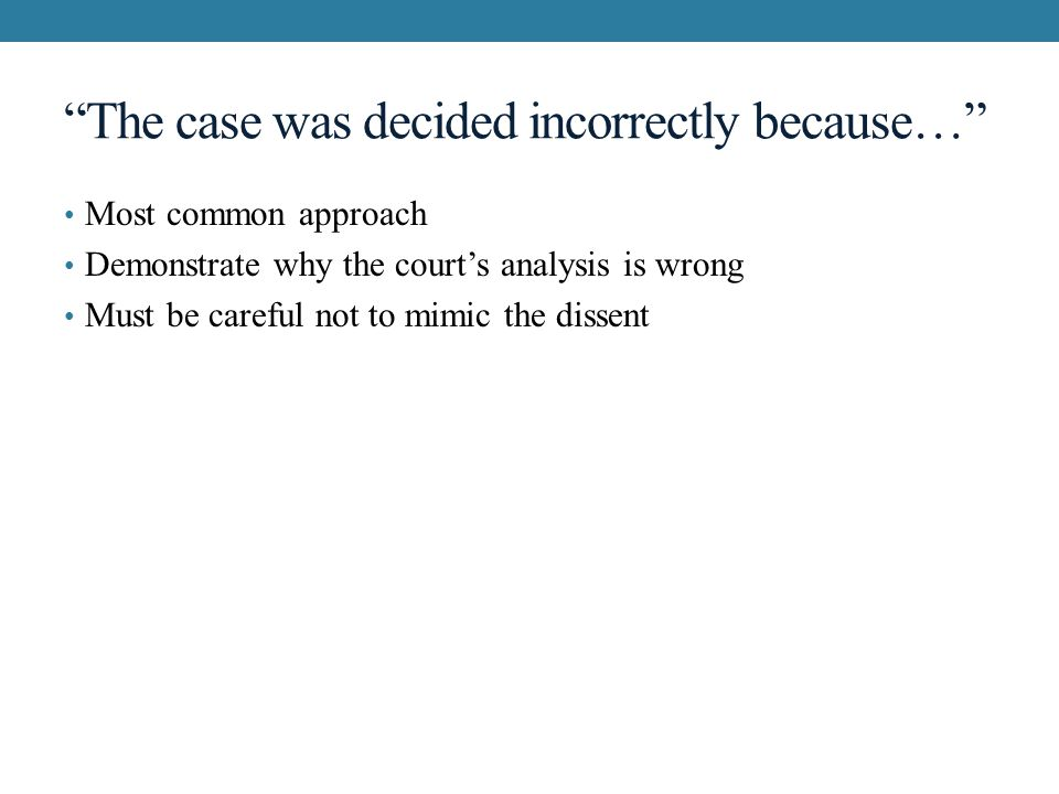Review and assess the case law