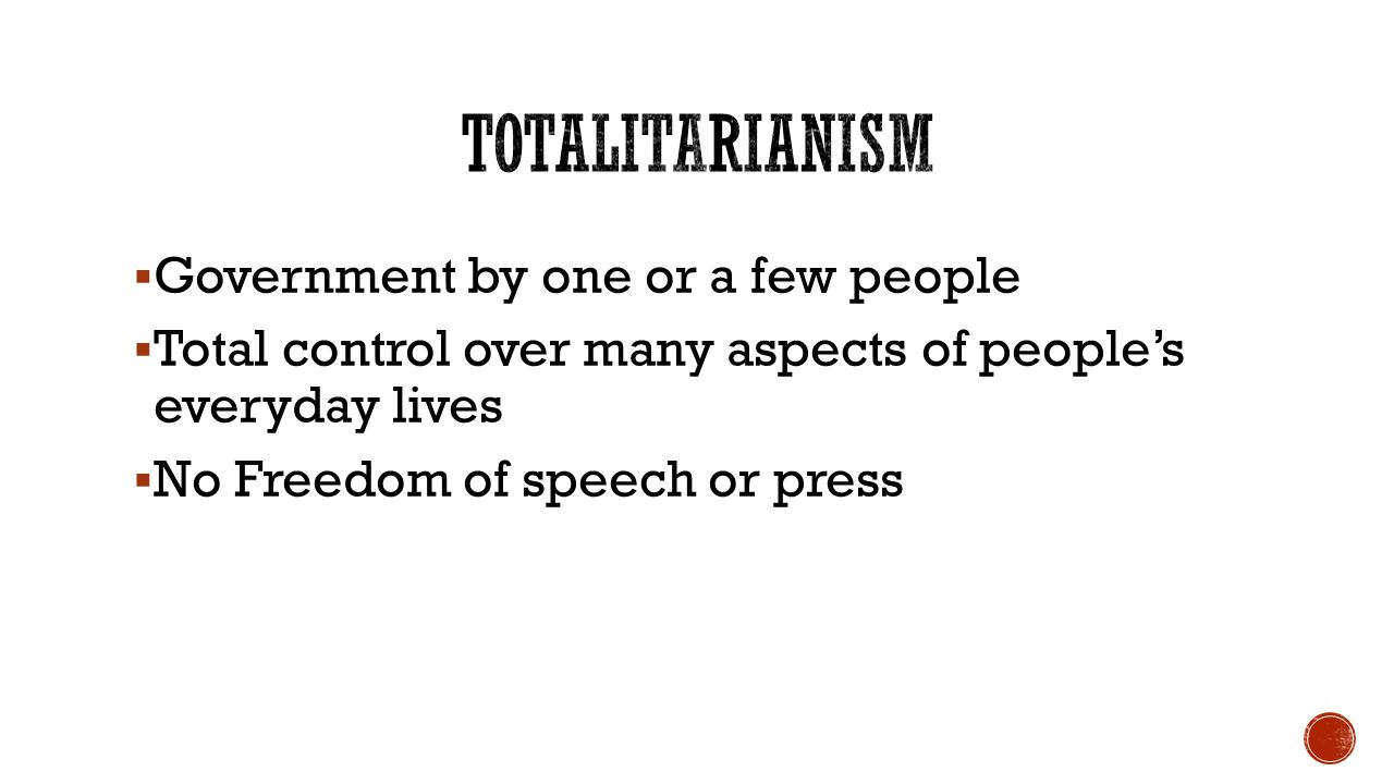 an analysis of totalitarianism and control over people Castro exercises control over all aspects of life through the  section 1 respect  for the integrity of the person, including freedom from: a arbitrary  observers  criticized the executions, in particular, the summary nature of the.