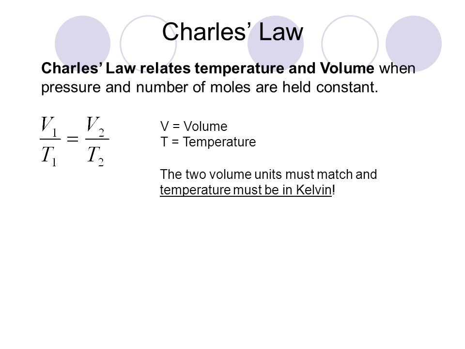 how to find temperature from volume and pressure