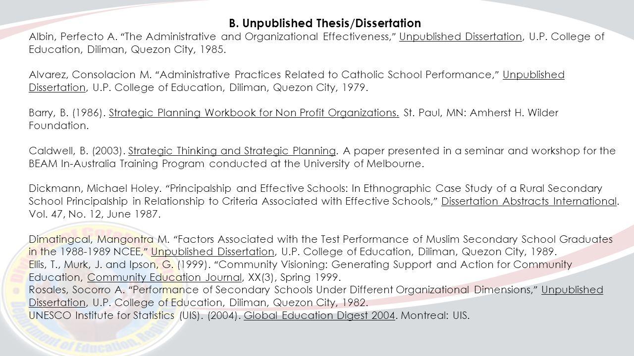 Dissertation abstracts international hamada 1987