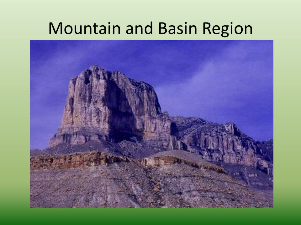 Mountain and Basin Region