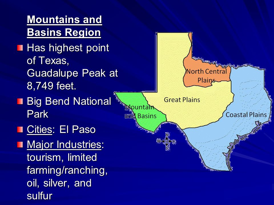 Mountains and Basins Region