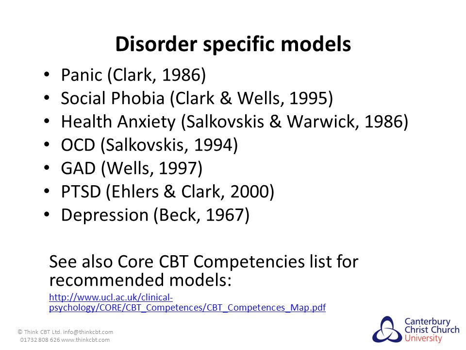 Disorder specific models