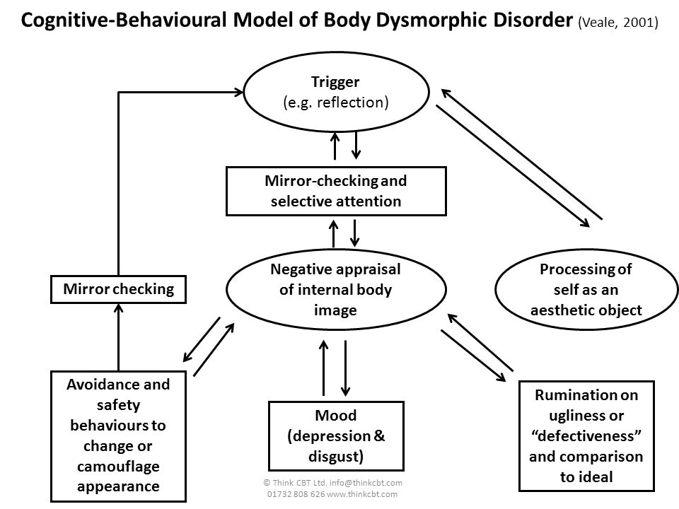 Cognitive-Behavioural Model of Body Dysmorphic Disorder (Veale, 2001)