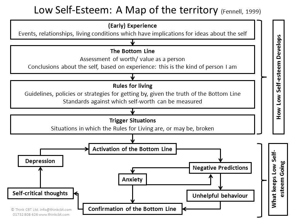 Low Self-Esteem: A Map of the territory (Fennell, 1999)