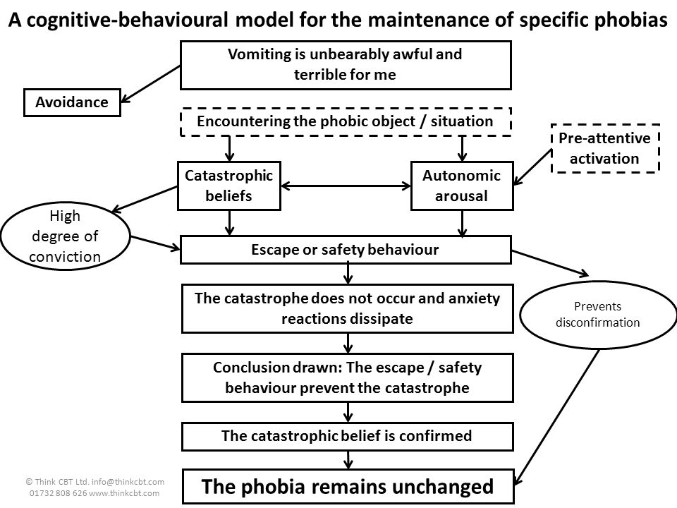 A cognitive-behavioural model for the maintenance of specific phobias