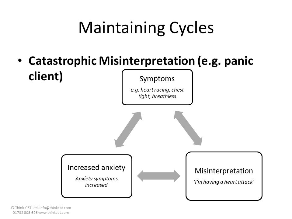 Maintaining Cycles Catastrophic Misinterpretation (e.g. panic client)