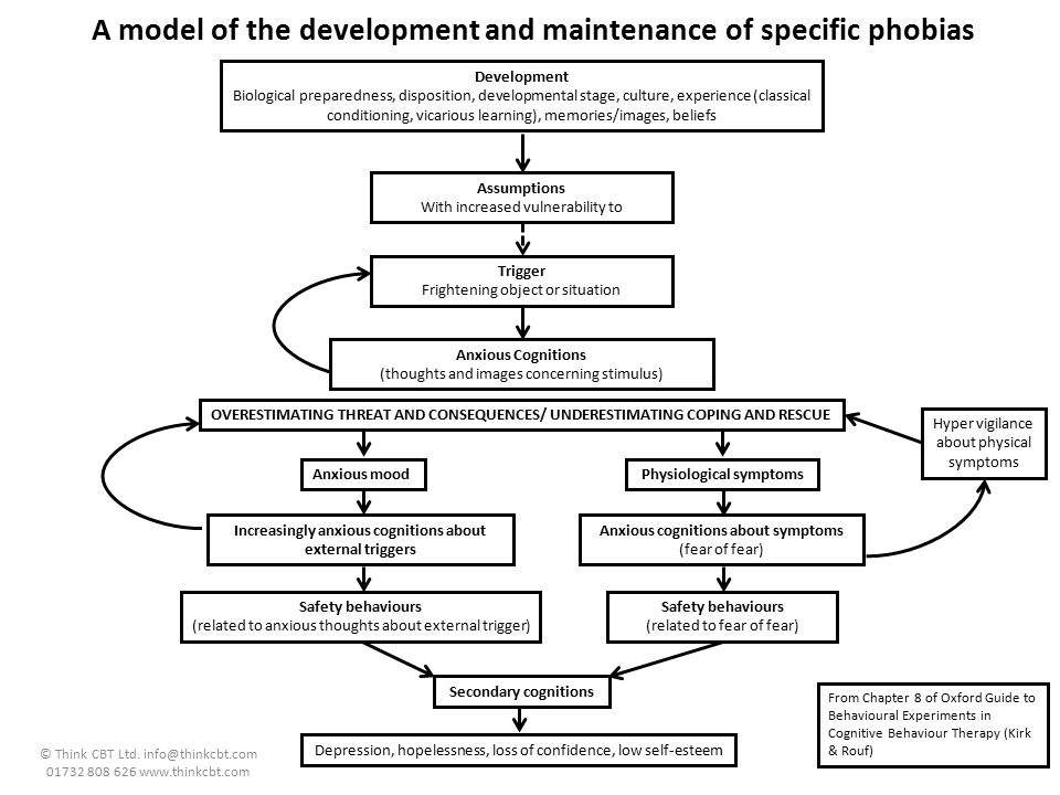 A model of the development and maintenance of specific phobias