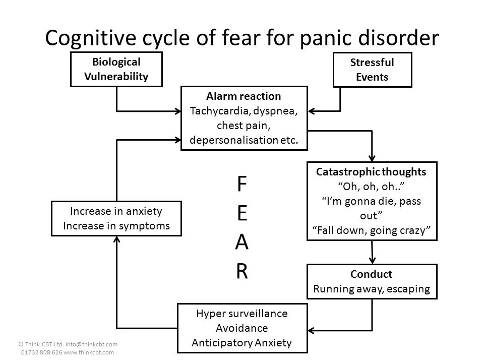 Cognitive cycle of fear for panic disorder