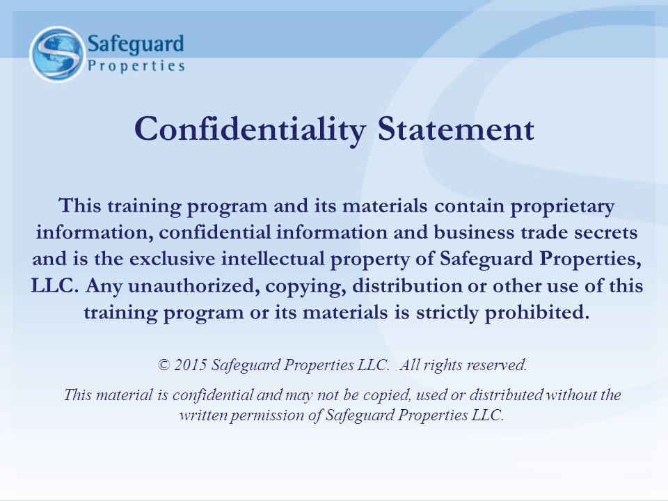 Confidentiality And Intellectual Property