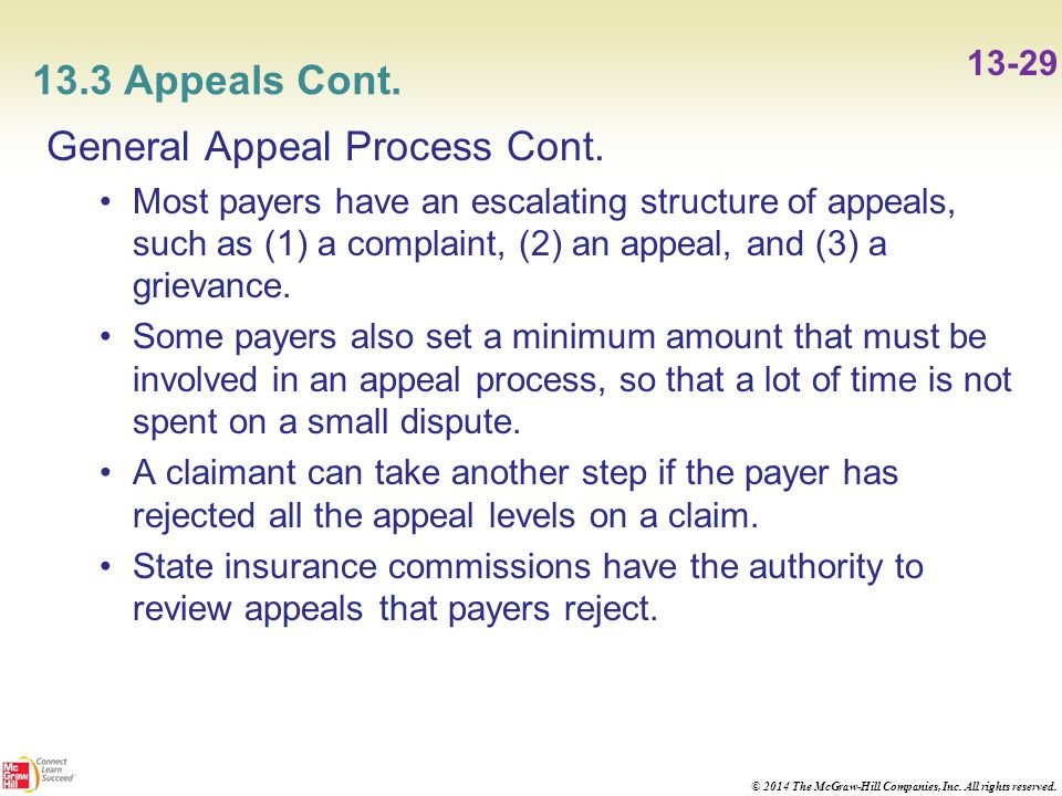 five steps in the appeals process Appellate process, court structure & resources on this page you'll find some general information on the appeals process in florida's court system and in the federal court system, as well as links to resources for additional information.
