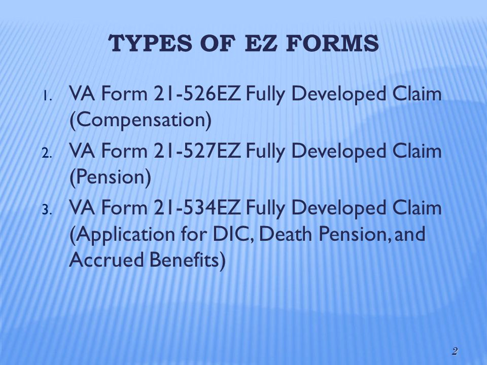 Fully Developed Claims (FDC) - ppt video online download