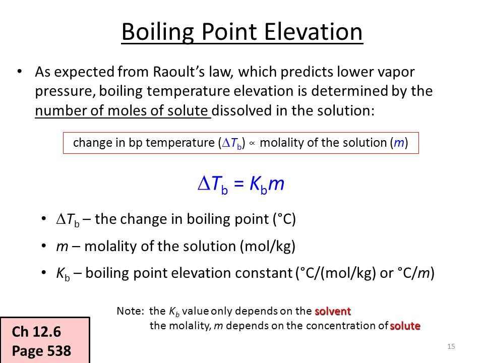 boiling point and elevation relationship