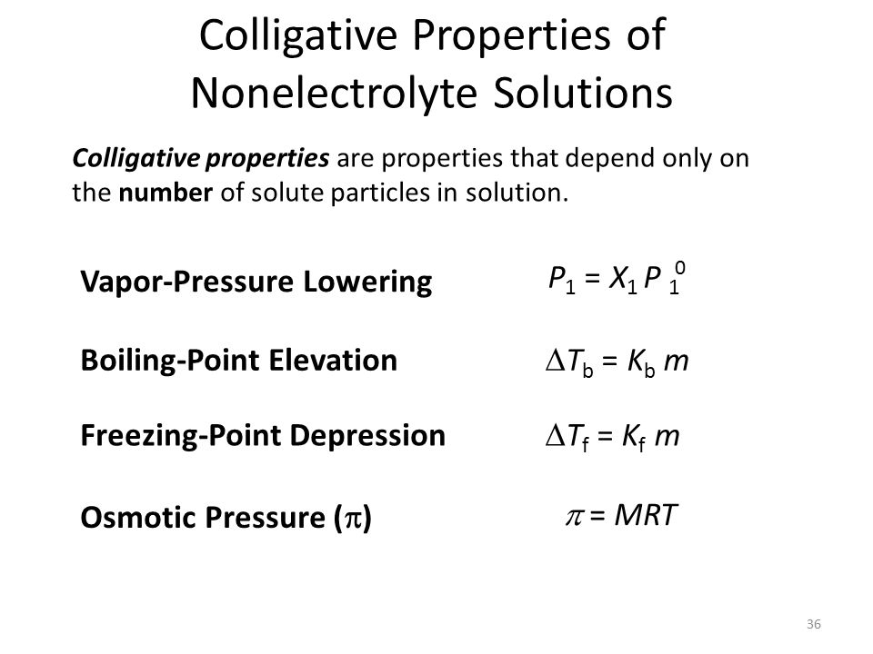colligative properties Free essay: ankur sindhu sep 20, 2011 chem 182-dl1 prof: dr nidhal marashi lab 1: colligative properties & osmotic pressure purpose: the purpose of.