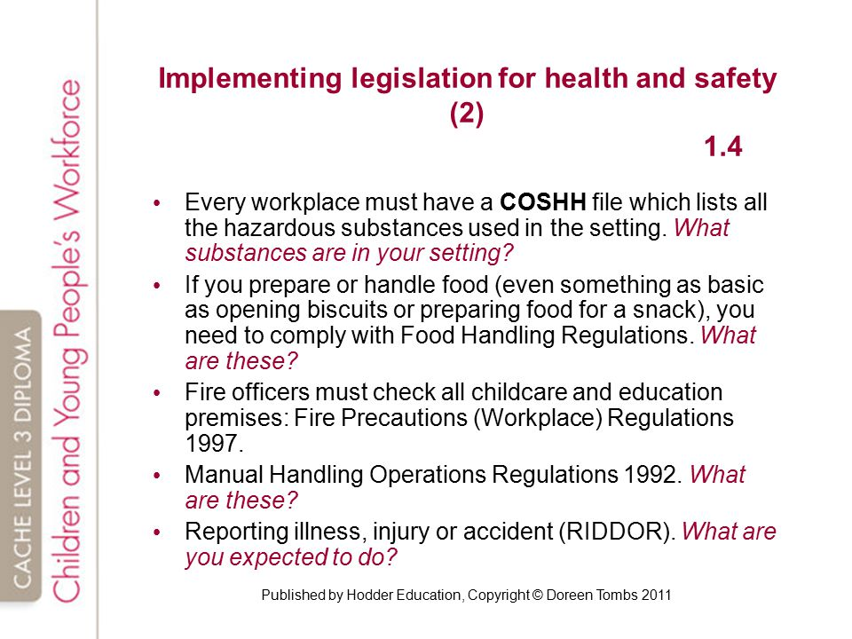 describe how health and safety legislation As work health and safety  identification and monitoring of all health and safety legislation,  15512 whs legislative compliance guidelines 2015 september.