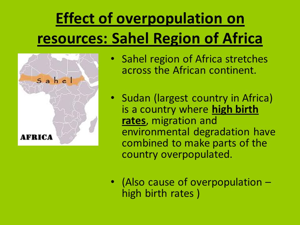 Effects of overpopulation in the world