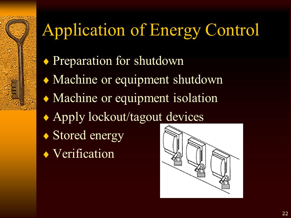 Application of Energy Control