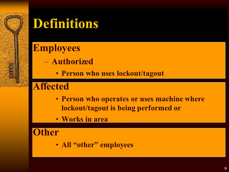 Definitions Employees Affected Other Authorized