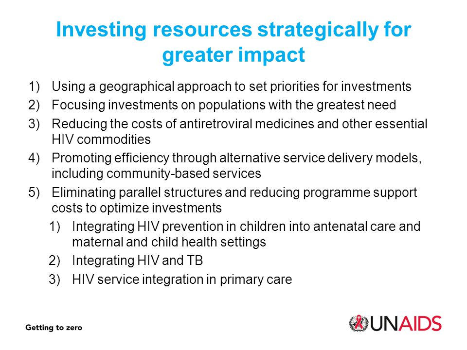 Investing resources strategically for greater impact