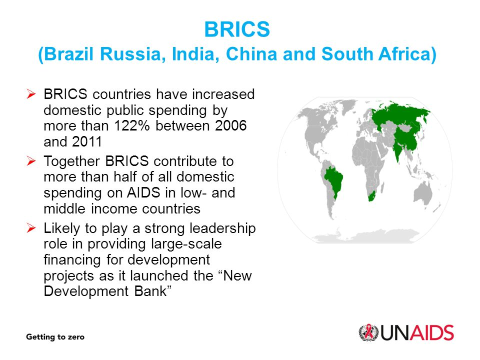 BRICS (Brazil Russia, India, China and South Africa)