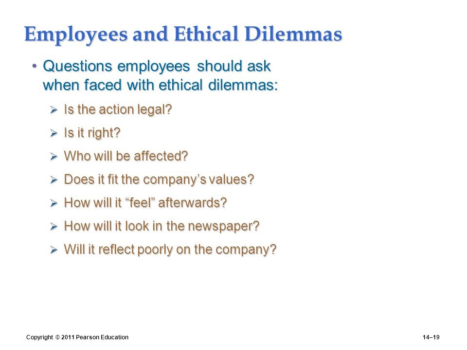employee employer relationship law and ethics