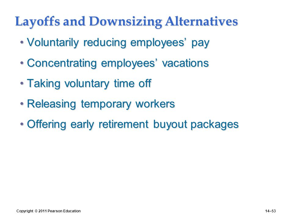 layoffs and downsizing alternatives